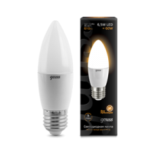 Лампа Gauss LED Candle E27 6.5W 100-240V 2700К
