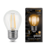 Лампа Gauss LED Filament Шар E27 11W 2700K