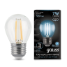 Лампа Gauss LED Filament Globe E27 7W 4100K