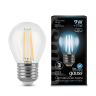 Лампа Gauss LED Filament Globe E27 9W4100K